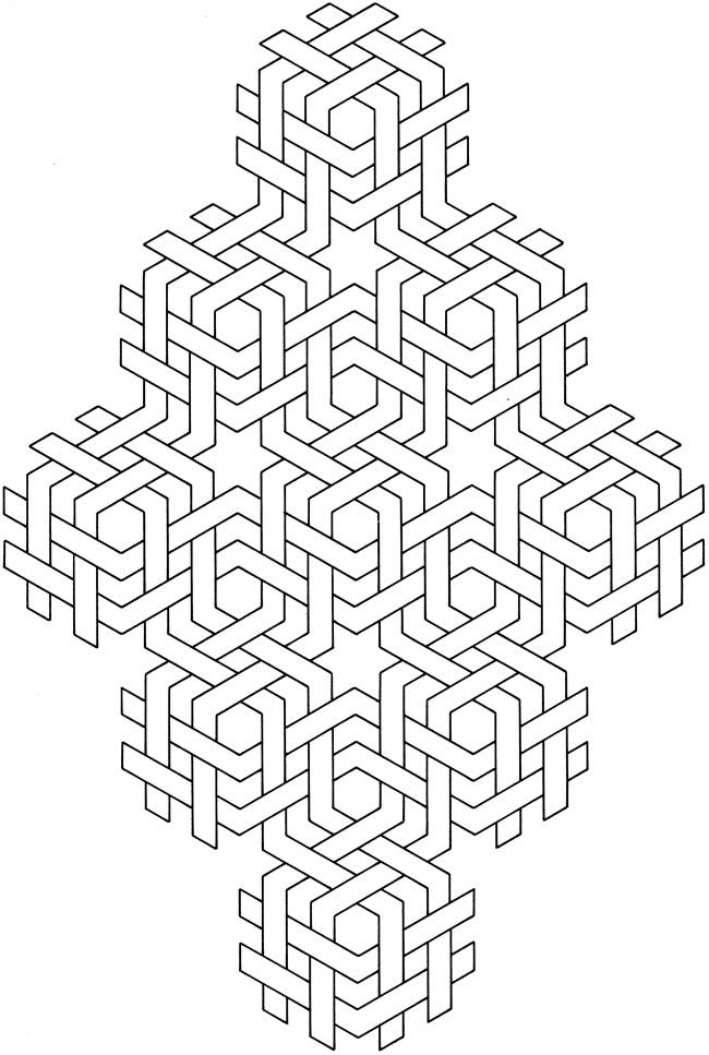 Geometric Designs Coloring Book Pages