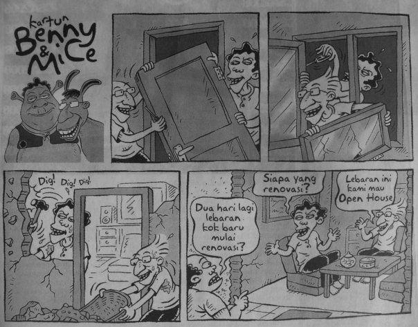 Kartun Benny & Mice Edisi Oktober 2008: Open House