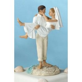 our awesome beach themed wedding cake topper