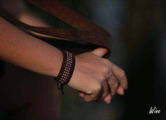 Bracelet Macrame Jewelry Wristbands  Micro by MacrameBrazilian