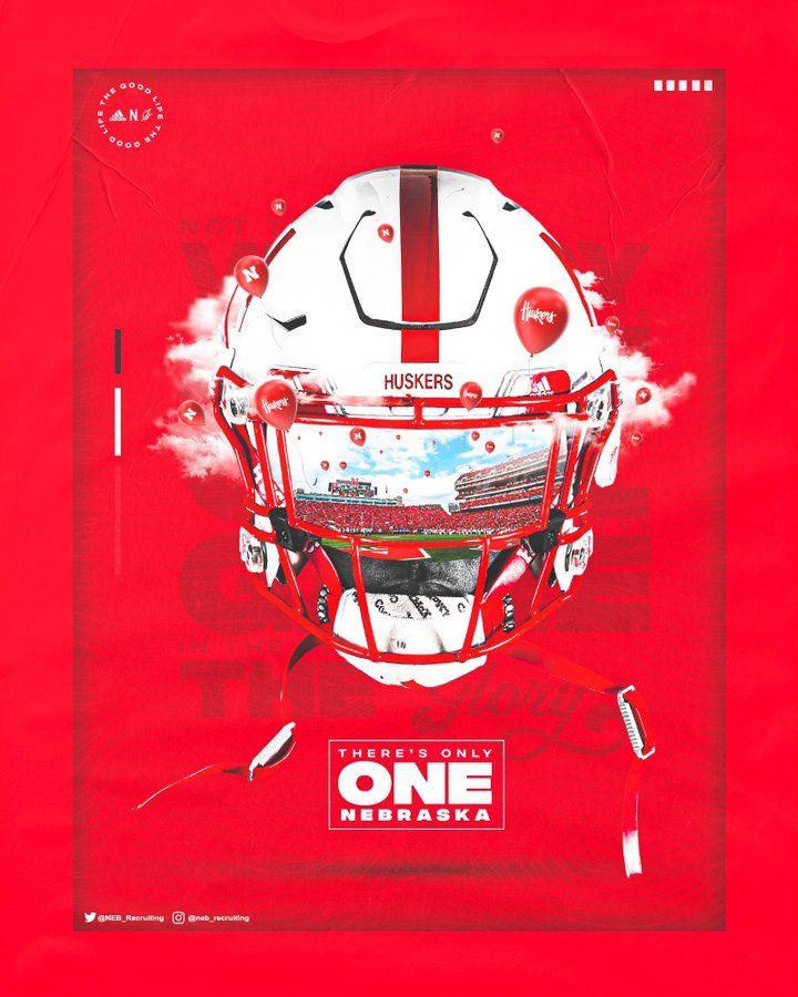 Nebraska In 2020 Sports Graphic Design Nebraska Football Football Poster