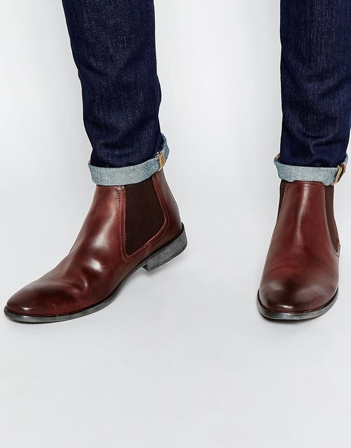 $132, Base London Leather Chelsea Boots. Sold by Asos. Click for more info: https://lookastic.com/men/shop_items/342864/redirect