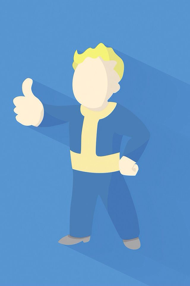 Fallout 4 minimal wallpaper iphone