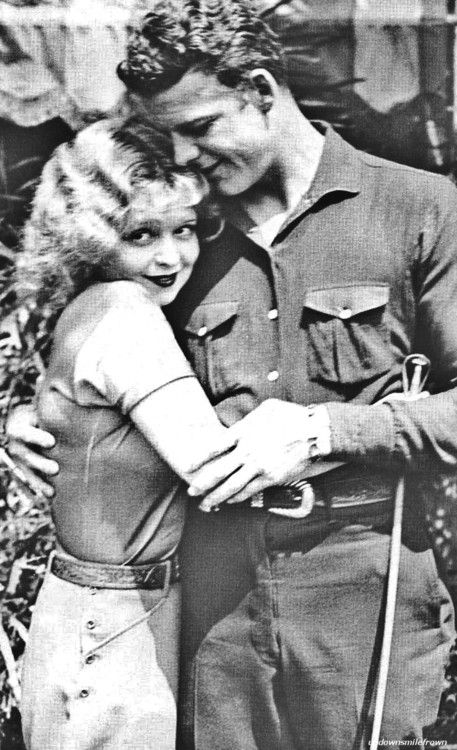 Clara Bow and the cowboy she married, Rex Bell.