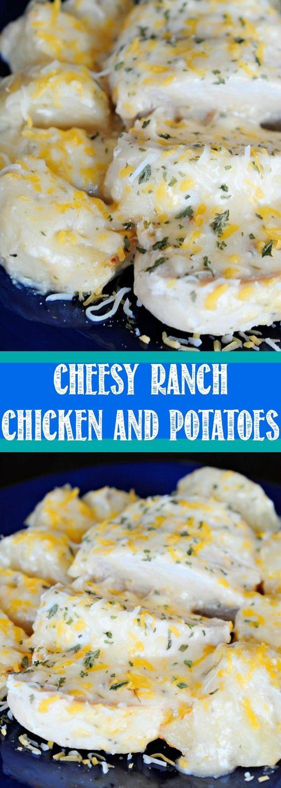 Cheesy Ranch Chicken and Potatoes | Recipe