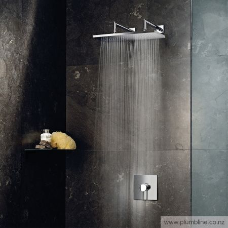 Mint 400 X 200mm Double Wall Mount Rainhead - Shower Tapware - Bathroom