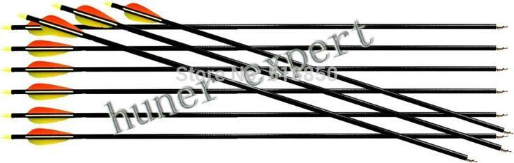25x блочного лука или арбалета стрельба из лука ориентации 30 '' стеклопластик w / стрелка охоты практике стрелка советы-ультра 400 стрелка шипы