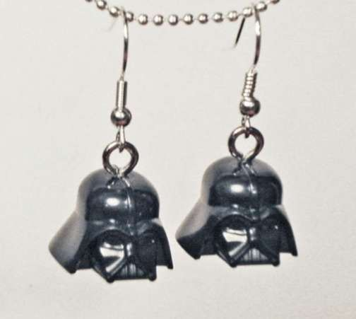 The Darth Vader Helmet Earrings are Totally Geek Chic trendhunter.com
