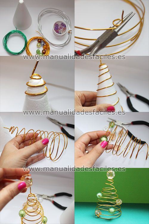 Arbol de navidad hecho con hilo mágico