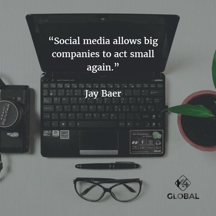Social media allows big companies to act small again.
