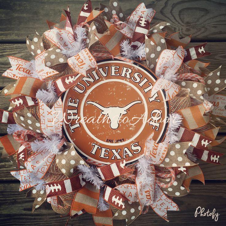 Texas Longhorns wreath, UT, Longhorns wreath   Custom created by Wreaths to Adoor