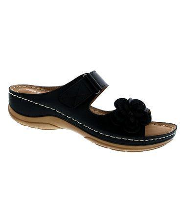 Black Floral Rich Sandal #zulily #zulilyfinds