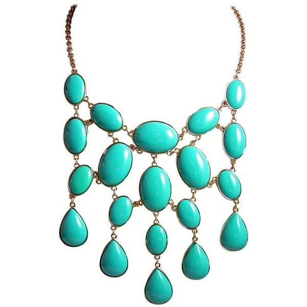 Kenneth Jay Lane Gold And Turquoise Bib Necklace Blue AHuKVhis