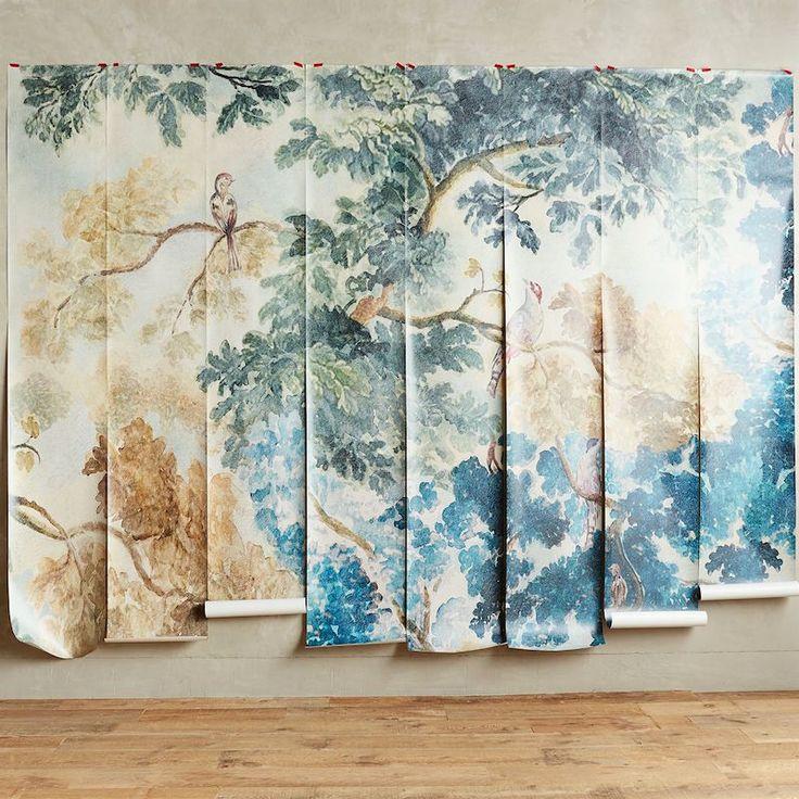 13 best wallpaper i love images on pinterest fabric for Anthropologie wallpaper mural