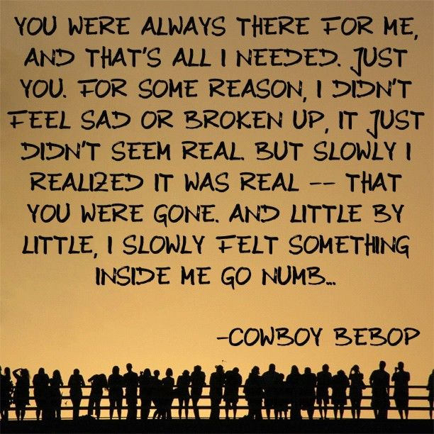 Cowboy Bebop- Going numb.