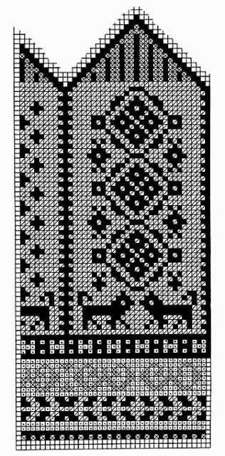 Knitted mittens pattern from 1953