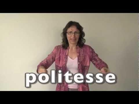 Apprendre la langue des signes LSF : la politesse merci pardon s'il vous...