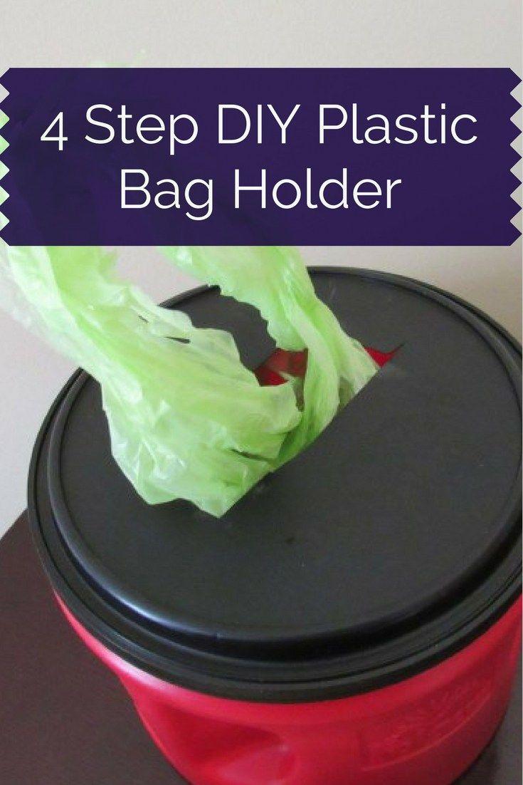 4 Step DIY Coffee Can Plastic Bag Holder