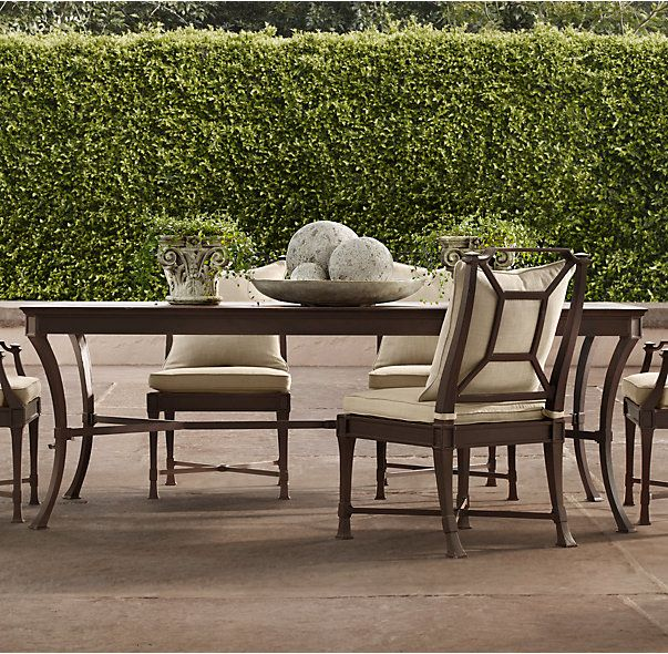 RHu0027s Antibes Rectangular Dining Table:Impeccably Made Outdoor Furniture  Rendered In Rustproof Cast Aluminum Captures