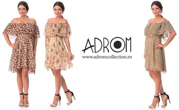 Rochia din voal imprimat este disponibilă pe foarte multe culori. Comandă acum!     Link rochie R660: http://www.adromcollection.ro/rochii/720-rochie-angro-r660.html