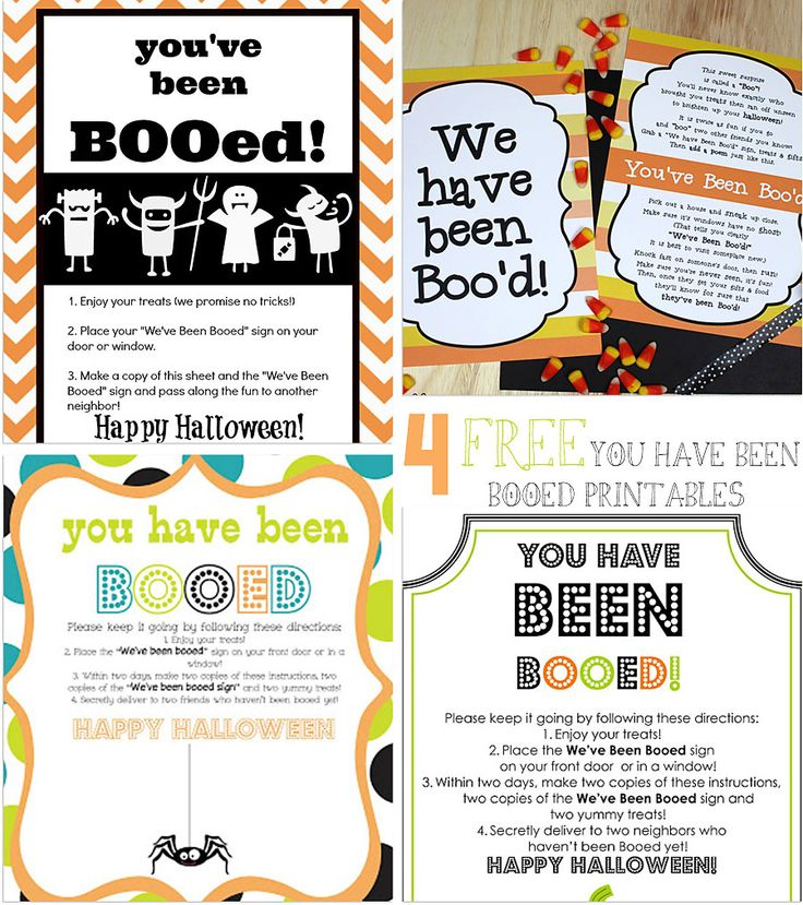 Last year was the first year that we Booed our neighbors and we LOVED it! It was so much fun! It was kind of like ding-dong ditching but in a good way! You simply make up a couple Halloween trea...