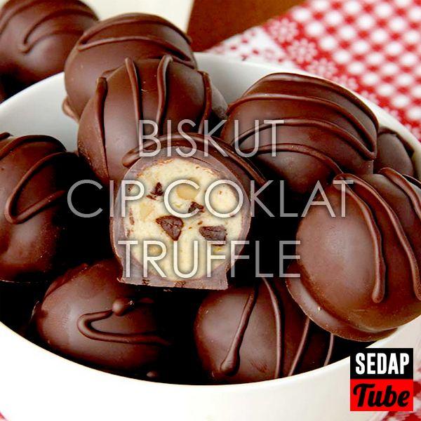 Resepi Biskut Truffle Cip Coklat Sedap Tube Resep Resep Biskuit Coklat Kue Kering