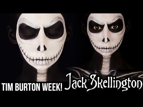 Jack Skellington - Nightmare Before Christmas Makeup Tutorial - ShelingBeauty - YouTube