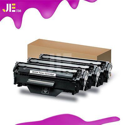 3PK Q2612A 12A Toner Cartridge Compatible For HP LaserJet 1022 3015 3055 printer