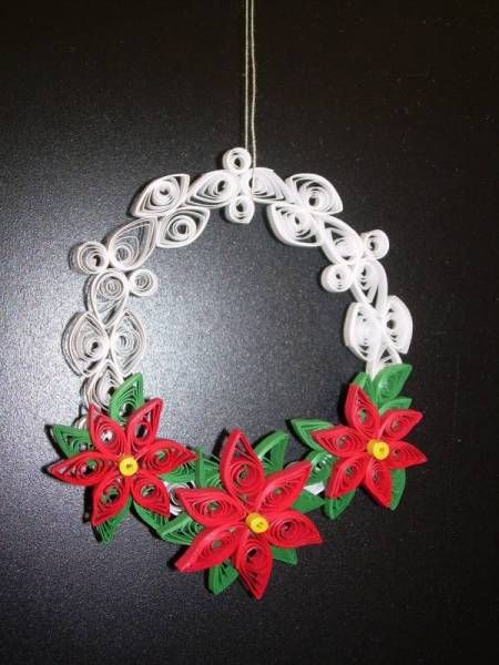Christmas Wreath Quilling Pattern