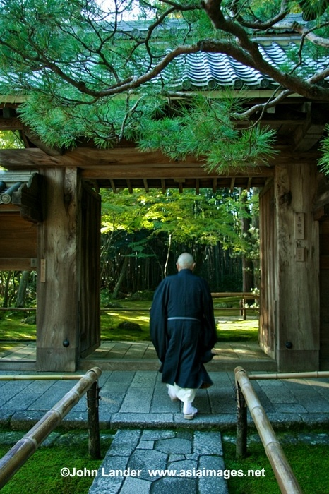 Japanese monk.  Spent two years in Japan, and the old architecture and gardens really speak to me.  Stone walkways of all types, often changing mid-path, are a hallmark.  Miss it very much.