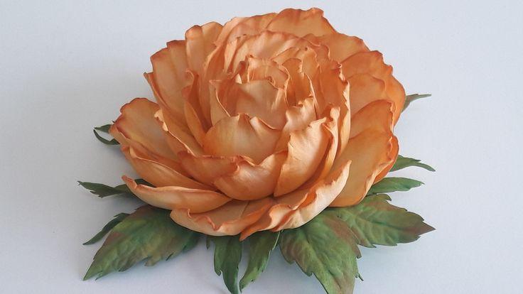 МК. Заколка  роза из фоамирана.Простой способ! Hairpin rose from foamira...