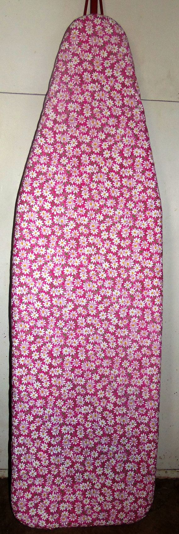 Daisies on Pink Farmhouse Ironing board cover by Farmhouseclassic