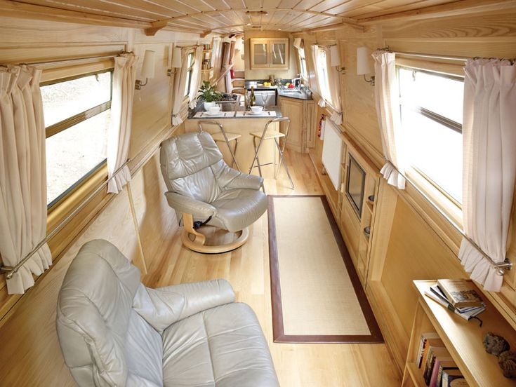 Luxury canal boat interior!