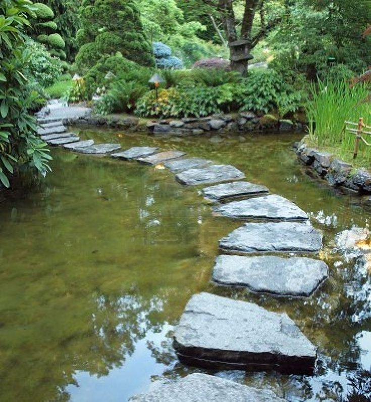 59 best ponds water features images on pinterest for Stone koi pond