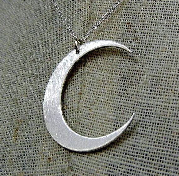 Collana Luna crescente Luna d'argento collana ciondolo Luna