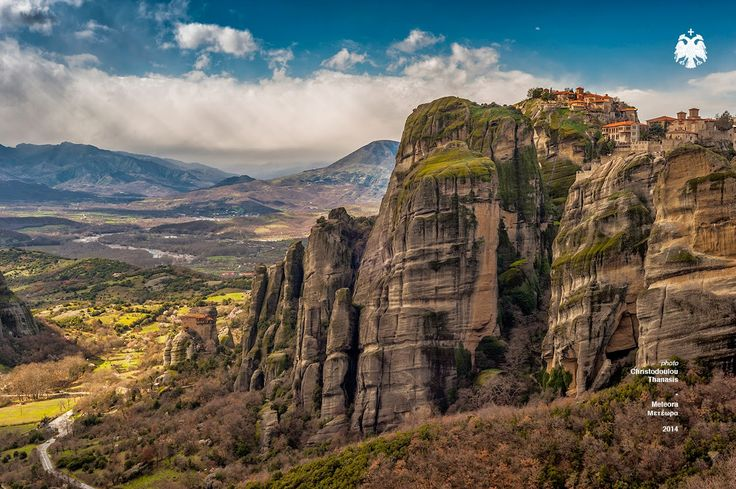 Photo taken by Thanasis Christodoulou. Meteora, Greece. Monasteries. #meteora #hill #sky #clouds #monastery #greece