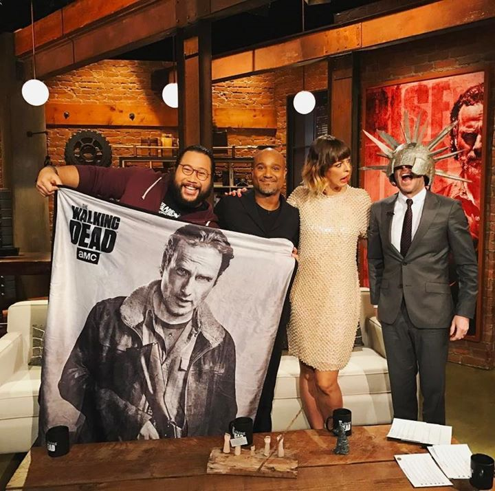Cooper Andrews, Seth Gilliam, Pollyanna Mcintosh and Chris Hardwick on The Talking Dead #thewalkingdead #twd #thewalkingdeadseason7 #twdfamily #twdfinale #amc #walkingdead #rickgrimes #andrewlincoln #norman #normanreedus #daryl #dixon #michonne #chandler #chandlerriggs #carl #carlgrimes #carol #negan #lucille #maggie #glenn #love
