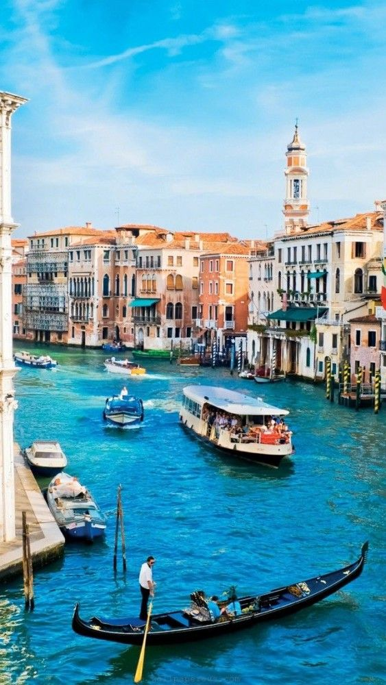 Venice, Italy...have ridden in a gondola at night and had a man singing to my husband and myself. It was so romantic....