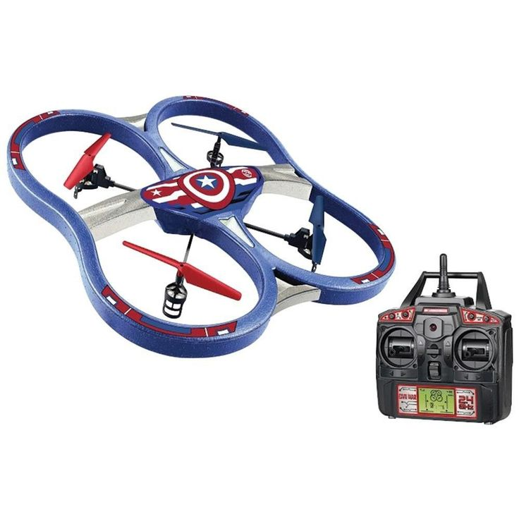Marvel 34887 Remote-Control 4.5-Channel 2.4GHz Marvel(R) Captain America(R) Super Drone