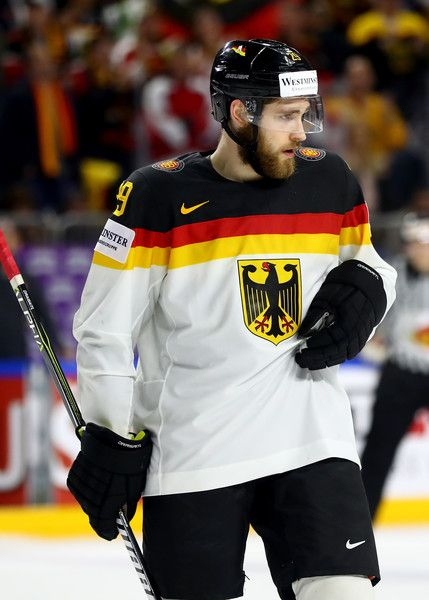 Leon Draisaitl Photos Photos - Leon Draisaitl of Germany reacts during the 2017 IIHF Ice Hockey World Championship game between Italy and Germany at Lanxess Arena on May 13, 2017 in Cologne, Germany. - Italy v Germany - 2017 IIHF Ice Hockey World Championship