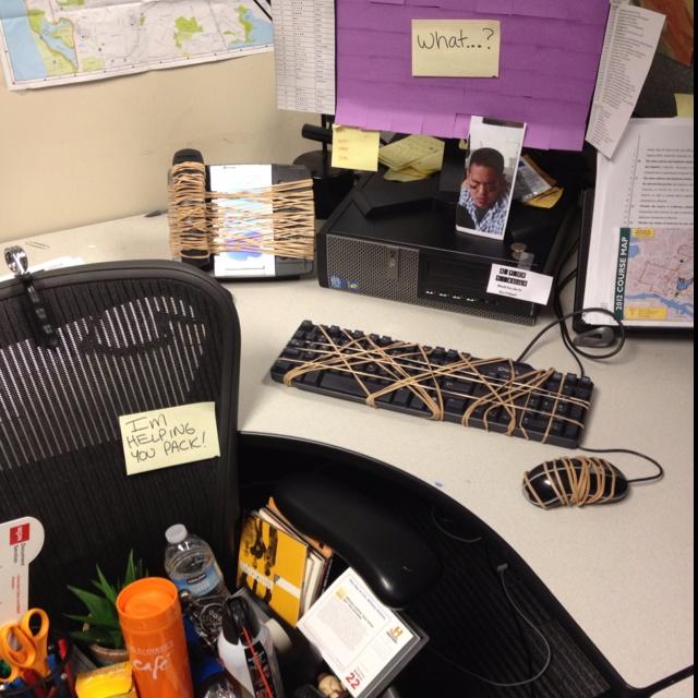 Office prank on pinterest pranks pranks ideas and senior pranks