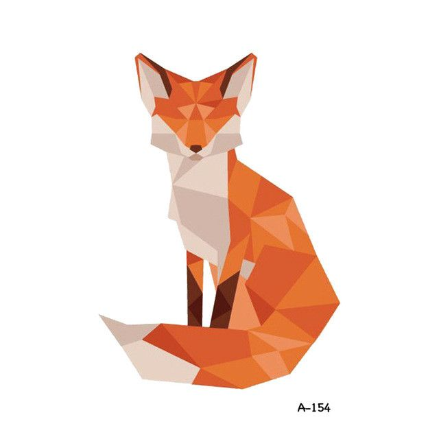 Wyuen Hot Design Fox Wolf Temporary Tattoo for Adult Waterproof