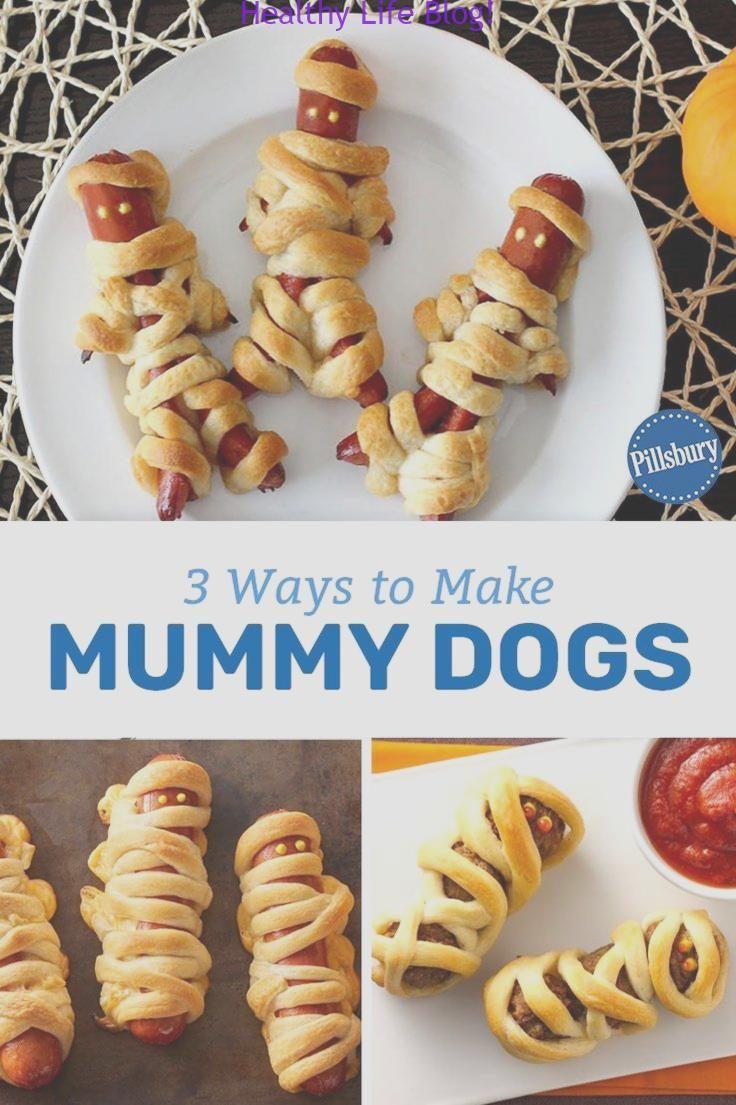 3 Möglichkeiten, Mumienhunde zu machen #HalloweenRezepte