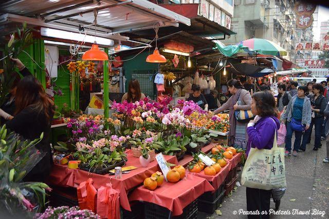 Hong Kong, flower market