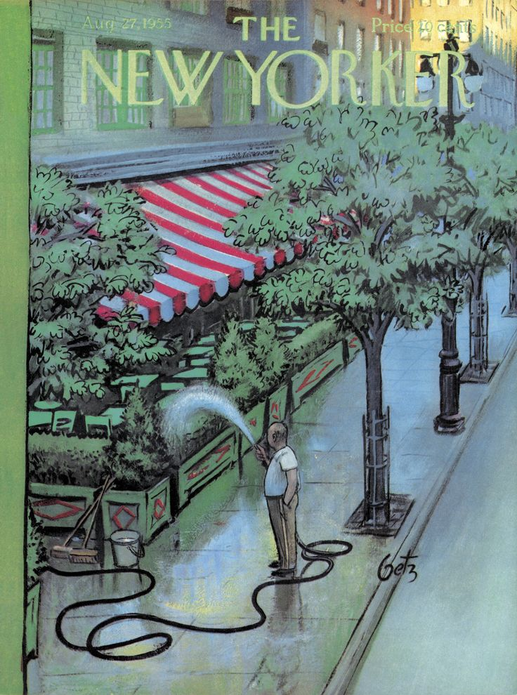 The New Yorker - Saturday, August 27, 1955 - Issue # 1593 - Vol. 31 - N° 28 - Cover by : Arthur Getz