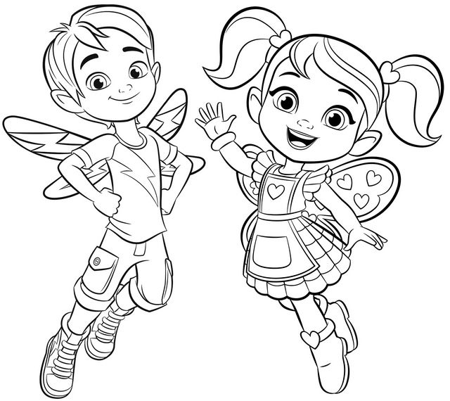 Cricket And Jasper From Butterbeans Cafe Coloring Page Pendidikan
