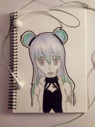 Just a drawing I did the other day. Comment what you think. #art #sketch #hair #colour #lineart #ocs