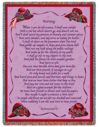 red hat society poem -.                                                                                                                                                                                 More