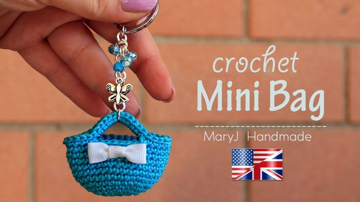 This Crochet Miniature Bag Key Chain is a perfect small crochet project. It has both form and function. Check out the video for the instructions.