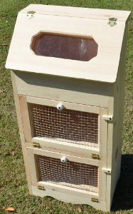 Amazon.com: Amish Handcrafted Unfinished Bread Box with 2 Door Vegetable Bin, 35 x 16.5-Inch: Potato And Onion Bin: Kitchen & Dining